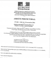 Arrêté préfectoral n°2012-3246 du 15 novembre 2012 : ouverture de l'enquête publique